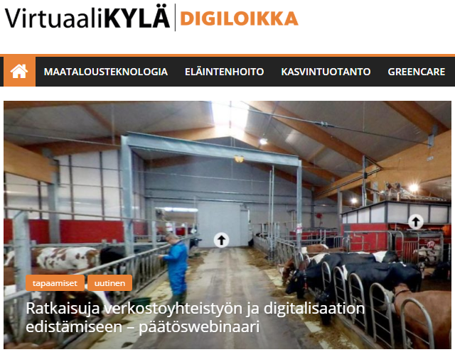 Digiloikka-hanke Virtuaalikylän www-sivut